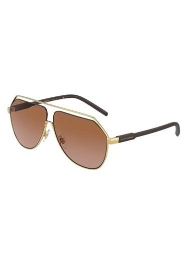 Dolce&Gabbana Dolce & Gabbana Dg2266 02/73 63 Ekartman Unisex Güneş Gözlüğü Altın